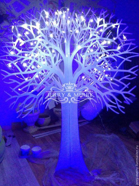 Деревья ручной работы. Ярмарка Мастеров - ручная работа. Купить Светящееся дерево, декорации в аренду, на свадьбу. Handmade. Белый