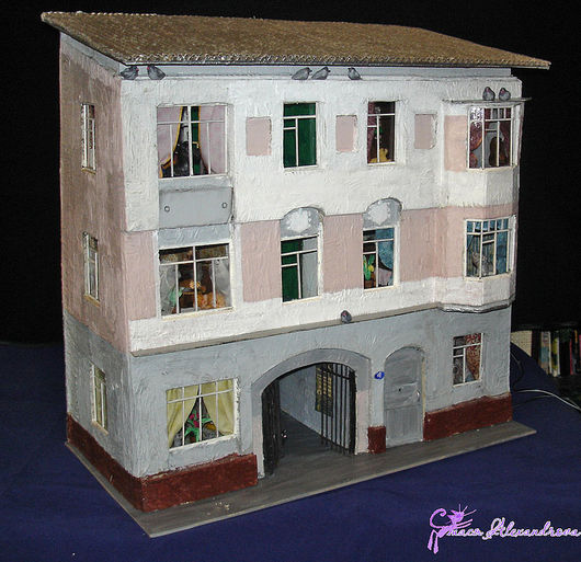 Кукольный дом ручной работы. Ярмарка Мастеров - ручная работа. Купить Портретный домик  в Козихинском переулке. Handmade. Домик