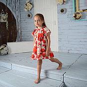 Работы для детей, ручной работы. Ярмарка Мастеров - ручная работа Платье из шелка а-ля Dolce & Gabbana. Handmade.