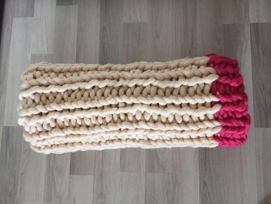 Текстиль, ковры ручной работы. Ярмарка Мастеров - ручная работа. Купить Плед шерстяной крупной вязки. Handmade. Плед