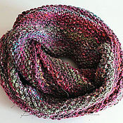 Аксессуары handmade. Livemaster - original item Cowl out of Noro Kogarashi (51% silk, 49% wool), fuchsia, green.. Handmade.