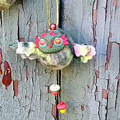 Куклы и игрушки handmade. Livemaster - original item Owl Spirit of the Orchard - a wind-catcher, a lucky charm.. Handmade.