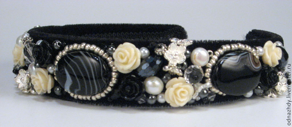 Hair band 'Black & white' in the style of D&G, Headband, Moscow,  Фото №1