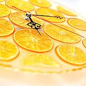 Часы классические ручной работы. Ярмарка Мастеров - ручная работа Часы настенные Апельсин. Handmade.