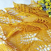 Аксессуары handmade. Livemaster - original item Openwork Shawl knitting Sunny melody Shawl gossamer. Handmade.