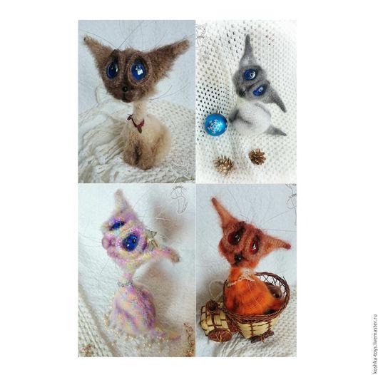 Игрушки животные, ручной работы. Ярмарка Мастеров - ручная работа. Купить Котята. Handmade. Разноцветный, котенок, розовый, проволока медная