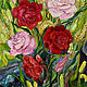 Картины цветов ручной работы. Ярмарка Мастеров - ручная работа. Купить Картина Розы холст масло 75х56см. Handmade. Картина