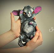 Подарки к праздникам handmade. Livemaster - original item Crystals, frisky kitty. Handmade.