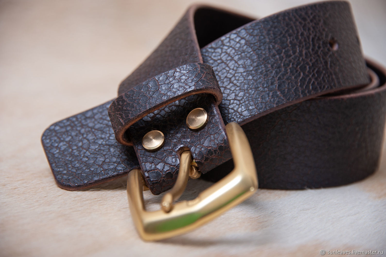 The genuine leather strap 'Stylish classic', Straps, St. Petersburg,  Фото №1