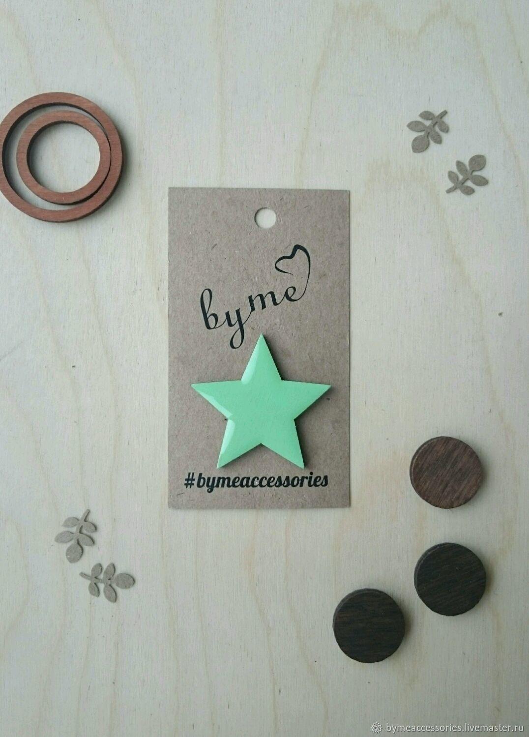 El icono de madera de Estrella', Badge, Permian,  Фото №1