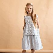 Одежда детская handmade. Livemaster - original item Dress: Linen suit. Handmade.
