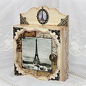 """Для дома и интерьера ручной работы. Ярмарка Мастеров - ручная работа ключница """"Ключи от Парижа"""". Handmade."""
