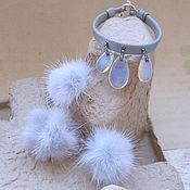 Украшения handmade. Livemaster - original item Fuzzies and moon stone jewelry set. Handmade.