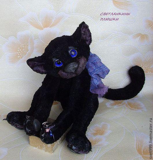 """Мишки Тедди ручной работы. Ярмарка Мастеров - ручная работа. Купить плюшевый котей """"Филимоша"""". Handmade. Черный, друг тедди"""