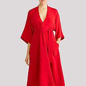 Одежда ручной работы. Ярмарка Мастеров - ручная работа Коктейльное нарядное платье на осень. Handmade.