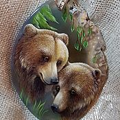 """Украшения ручной работы. Ярмарка Мастеров - ручная работа Кулон """"Два медведя"""". Handmade."""