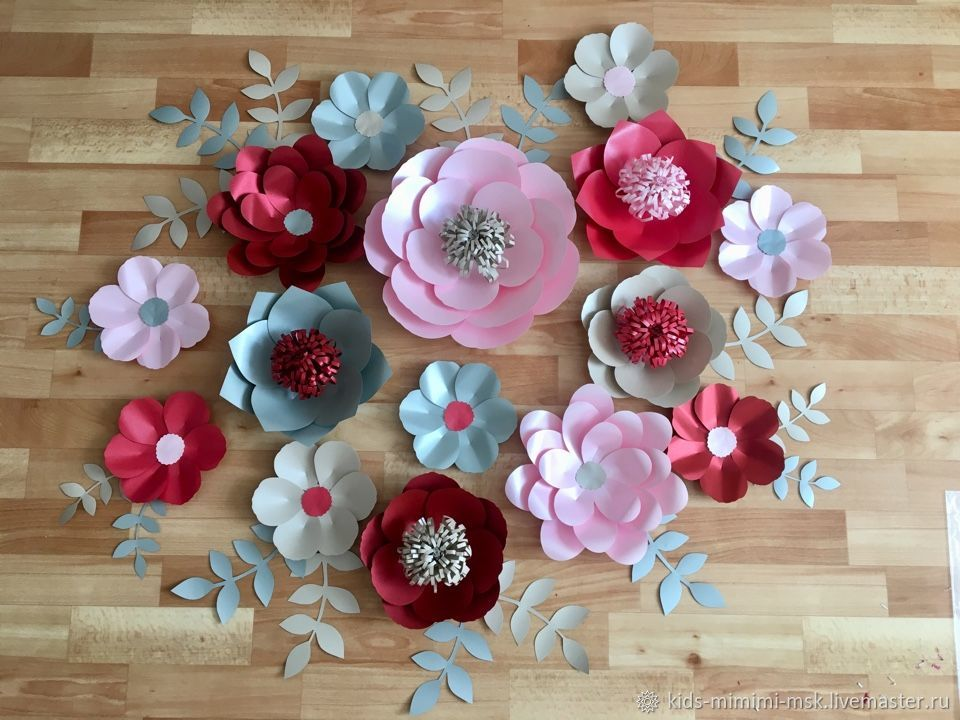 Розы из дизайнерской бумаги, Цветы, Москва,  Фото №1