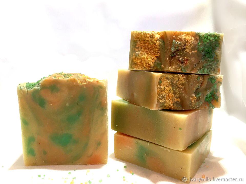 Натуральное мыло с нуля шалфей и цитрус, Мыло, Кемерово, Фото №1