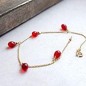 Украшения manualidades. Livemaster - hecho a mano Bracelet with cherry drops of Czech glass. Handmade.