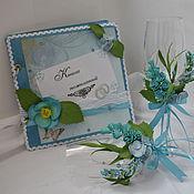 Свадебный салон ручной работы. Ярмарка Мастеров - ручная работа Свадебный набор в цвете ТИФАНИ. Handmade.