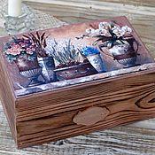 Для дома и интерьера handmade. Livemaster - original item Casket in the style of Provence. Handmade.