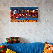 Картины и панно ручной работы. Ярмарка Мастеров - ручная работа Картина «Город». Handmade.