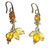 Украшения handmade. Livemaster - original item Amber earrings Dolls with amber earrings, amber stones. Handmade.