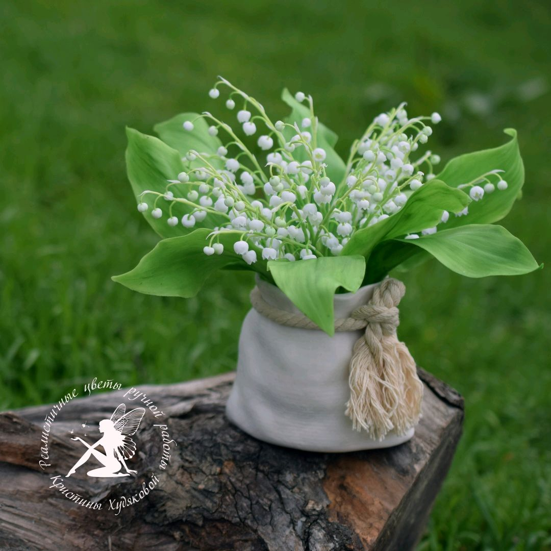 Lily of polymer clay (cold porcelain), Flowers, Budennovsk,  Фото №1