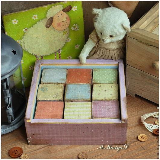 """Развивающие игрушки ручной работы. Ярмарка Мастеров - ручная работа. Купить Подарочный набор деревянных кубиков """"Sheep"""". Handmade. Игрушки"""