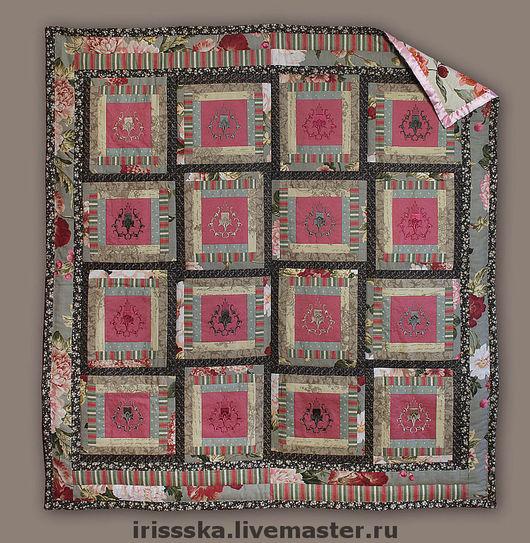 Текстиль, ковры ручной работы. Ярмарка Мастеров - ручная работа. Купить Кантри. Handmade. Машинная вышивка, лоскутная техника, одеяло