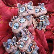 Куклы и игрушки ручной работы. Ярмарка Мастеров - ручная работа кошачье семейство. Handmade.