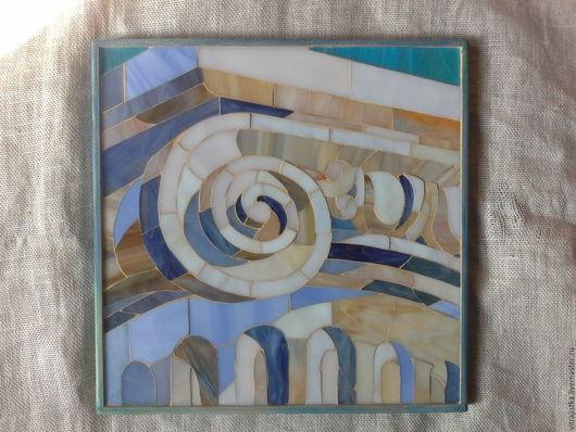 Город ручной работы. Ярмарка Мастеров - ручная работа. Купить ,, Греция,, мозаика. Handmade. Бежевый, капитель, камень, тиффани