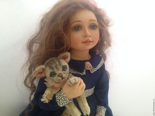 Коллекционные куклы ручной работы. Ярмарка Мастеров - ручная работа. Купить Котеночек. Handmade. Тёмно-синий, кукла ручной работы