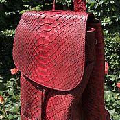 Сумки и аксессуары handmade. Livemaster - original item Backpack women`s leather Python IMP0556R. Handmade.
