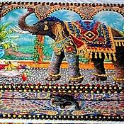 """Для дома и интерьера ручной работы. Ярмарка Мастеров - ручная работа Шкатулка  """" Индийский слон"""". Handmade."""