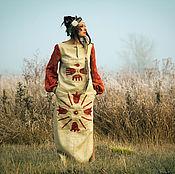 Одежда handmade. Livemaster - original item Native Linen Ethnic Dress «Shamanic». Handmade.