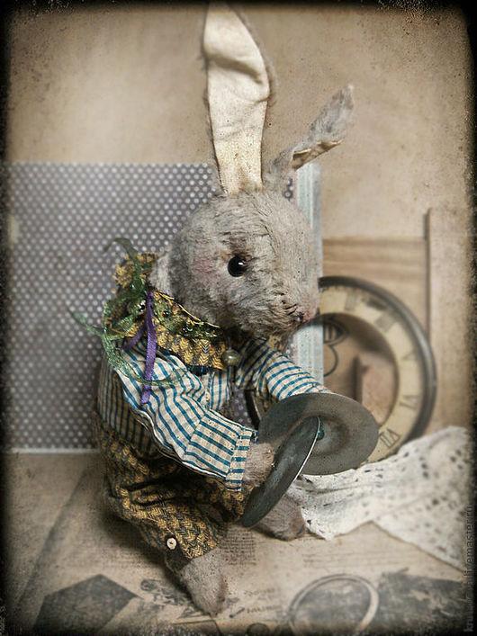 Мишки Тедди ручной работы. Ярмарка Мастеров - ручная работа. Купить Механический (заводной) заяц Роджер. Handmade. Заяц