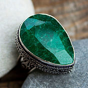 Украшения handmade. Livemaster - original item The Royal ring (ring) emerald