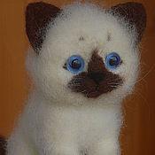 Куклы и игрушки ручной работы. Ярмарка Мастеров - ручная работа Сиамский котёнок.. Handmade.
