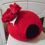 Для домашних животных, ручной работы. Ярмарка Мастеров - ручная работа Домик для кошки из шерсти. Handmade.