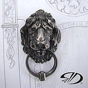 Комоды ручной работы. Ярмарка Мастеров - ручная работа Голова льва с кольцом.Накладка на мебель серебро.. Handmade.