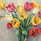 Картины и панно ручной работы. Ярмарка Мастеров - ручная работа Букет тюльпанов. Handmade.