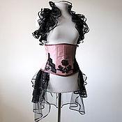 Одежда ручной работы. Ярмарка Мастеров - ручная работа СКИДКА 40% Утягивающий корсет под грудь хэллоуин готический стимпанк. Handmade.