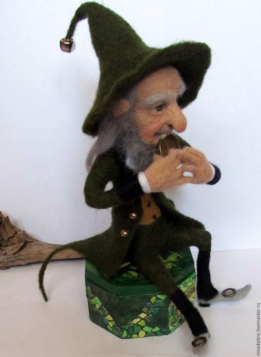 Коллекционные куклы ручной работы. Ярмарка Мастеров - ручная работа. Купить Коллекционная кукла. Лепрекон с монеткой. Handmade. Ирландия, сказка