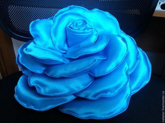 """Текстиль, ковры ручной работы. Ярмарка Мастеров - ручная работа. Купить Подушка """"Роза"""". Handmade. Роза, подарок на любой случай"""