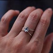 Украшения handmade. Livemaster - original item Ring: Silver infinity ring with blue Topaz drop. Handmade.