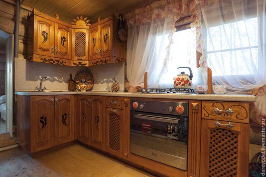 Мебель ручной работы. Ярмарка Мастеров - ручная работа. Купить Кухня из массива дерева. Handmade. Кухня ручной работы