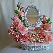 Цветы и флористика ручной работы. Ярмарка Мастеров - ручная работа Зеркало в стиле рококо. Handmade.