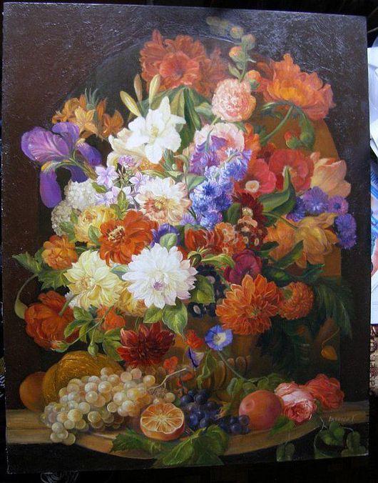"""Картины цветов ручной работы. Ярмарка Мастеров - ручная работа. Купить Картина """"Красивые Цветы"""" 80/100 Холст.Масло.. Handmade."""