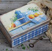 """Для дома и интерьера ручной работы. Ярмарка Мастеров - ручная работа """"Sweet Home"""" Большой деревянный короб  ОЛЬХА. Handmade."""